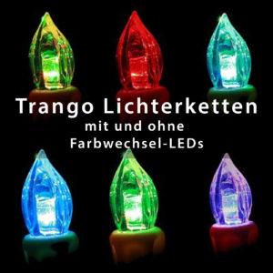 Trango Lichterkette warm-weiß oder mit Farbwechsel LED